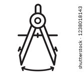 school drawing compass icon in... | Shutterstock .eps vector #1238018143
