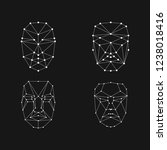 face recognition grid set .... | Shutterstock .eps vector #1238018416