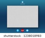 video call screen template .... | Shutterstock .eps vector #1238018983