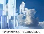 artwork of a crystal build... | Shutterstock . vector #1238022373