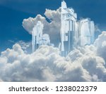artwork of a crystal build... | Shutterstock . vector #1238022379