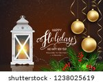 holidays greeting card for... | Shutterstock .eps vector #1238025619
