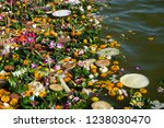 gabage in thailand river after... | Shutterstock . vector #1238030470