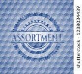 assortment blue hexagon emblem. | Shutterstock .eps vector #1238034439