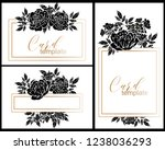 vintage delicate greeting... | Shutterstock . vector #1238036293