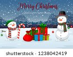 merry christmas winter template ... | Shutterstock .eps vector #1238042419