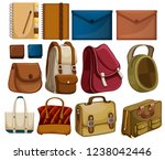 collection of handbags and... | Shutterstock .eps vector #1238042446