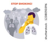 smoking in public place.... | Shutterstock .eps vector #1238050396