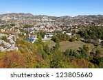 cetinje from a height | Shutterstock . vector #123805660