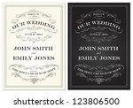 vector old fashioned wedding... | Shutterstock .eps vector #123806500
