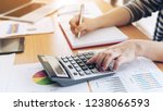 close up hand of business...   Shutterstock . vector #1238066593