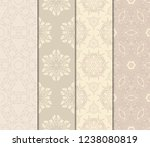 vertical seamless patterns set  ... | Shutterstock .eps vector #1238080819