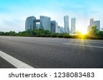road ground and urban skyline... | Shutterstock . vector #1238083483