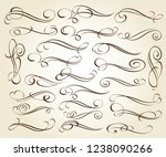 calligraphic elegant elements... | Shutterstock .eps vector #1238090266