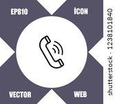 telephone icon vector   Shutterstock .eps vector #1238101840