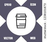 coffee mug icon vector   Shutterstock .eps vector #1238101873