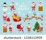 funny vector santa. cute vector ... | Shutterstock .eps vector #1238113909