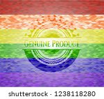 genuine product on mosaic... | Shutterstock .eps vector #1238118280