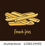 fried potatoes.  hand drawn... | Shutterstock .eps vector #1238119450