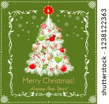 paper cutting christmas white... | Shutterstock .eps vector #1238122363