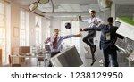 business team games. mixed media   Shutterstock . vector #1238129950