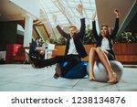 corporate sport lifestyle....   Shutterstock . vector #1238134876