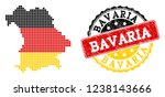 pixelated map of bavaria state... | Shutterstock .eps vector #1238143666