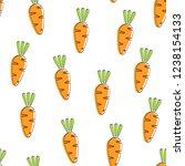 carrot seamless vegetable... | Shutterstock .eps vector #1238154133