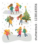 vector winter season set.... | Shutterstock .eps vector #1238165056
