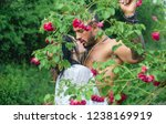spring lovers in blooming... | Shutterstock . vector #1238169919