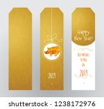 vector set of cards with a... | Shutterstock .eps vector #1238172976