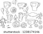 cups  mugs for tea  coffee....   Shutterstock .eps vector #1238174146