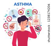 asthma triggers medication anti ... | Shutterstock .eps vector #1238174206