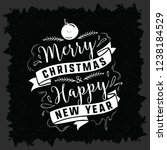 merry christmas typography. | Shutterstock .eps vector #1238184529