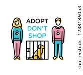 adopt don t shop design poster... | Shutterstock .eps vector #1238186053