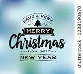 merry christmas typography. | Shutterstock .eps vector #1238190670