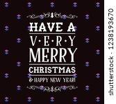 merry christmas typography. | Shutterstock .eps vector #1238193670