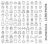 set of clothes icons  thin line ... | Shutterstock .eps vector #1238194696
