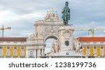 triumphal arch at rua augusta... | Shutterstock . vector #1238199736