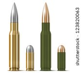 vector rifle and pistol bullets ... | Shutterstock .eps vector #123820063