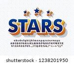 3d baseball alphabet font... | Shutterstock .eps vector #1238201950