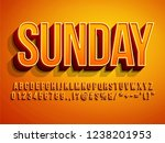 premium hot summer font... | Shutterstock .eps vector #1238201953