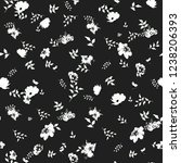 cute floral pattern of small... | Shutterstock .eps vector #1238206393