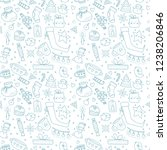 hand drawn christmas pattern...   Shutterstock .eps vector #1238206846