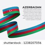 azerbaijan flag for decorative... | Shutterstock .eps vector #1238207056