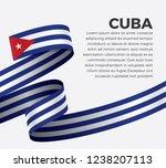 cuba flag for decorative.vector ... | Shutterstock .eps vector #1238207113