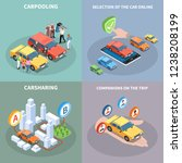 carsharing concept icons set... | Shutterstock .eps vector #1238208199