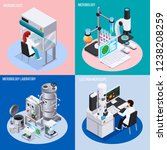 microbiology laboratory 2x2... | Shutterstock .eps vector #1238208259