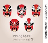 Peking Opera Red Make Up Set