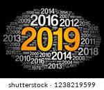 2019 happy new year and... | Shutterstock .eps vector #1238219599